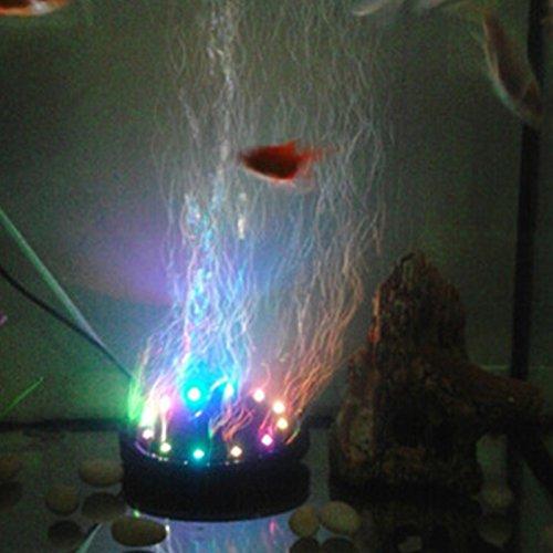 Etbotu 12 LEDs Air Bubble Lampe runde Form mit 4.92in Durchmesser für Fisch Tank Multi Farbe ändern Unterwasser Tauchbecken Aquarium Blase Licht