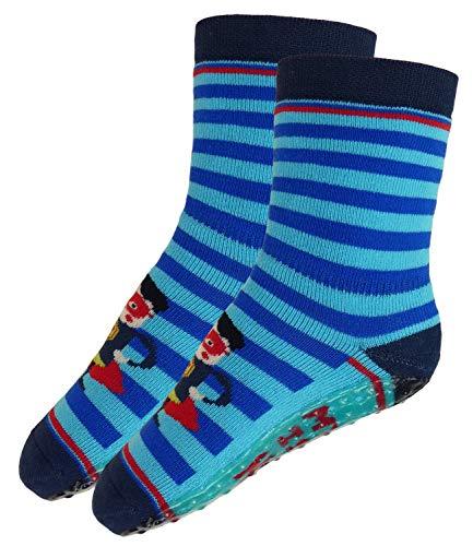 (EveryKid Ewers Jungenstoppersocken Stoppersocken ABS Socken Antirutsch schadstofffrei ganzjährig Super Dad für Kinder (EW-221077-W18-JU2-1261-18/19) in Aqua, Größe 18/19 inkl Fashionguide)