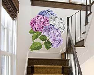 WALL STICKERS - Adesivi Murali - HYDRANGEA Ortensia - Extra Large cm 50x70