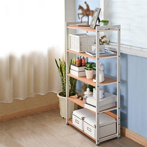L&Y Meuble de cuisine Étagères étagères étagère cinq couches étagère étagère de rangement étagère simple étagère créative étudiant étagère Étagère de rangement (Couleur : Blanc)
