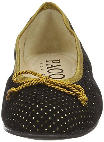 Paco Gil P2932, Ballerines femme Or - Gold (Black/Gold)