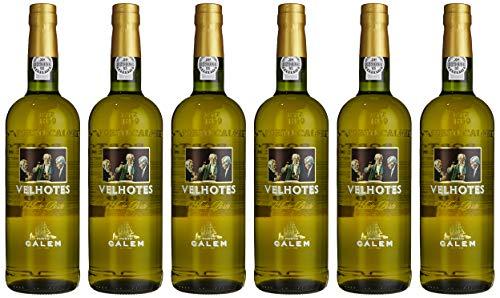 6 Flaschen -Portwein Calem Velhotes White NV - Dessertwein