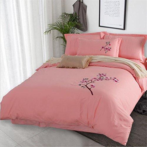 YAN Duvet Bett Set Luxus 100% reine ägyptische Baumwolle Modern Printed Reversible Bettbezug Set Bettbezug mit Kissenbezüge (Color : 9, Größe : 1.8*2M)