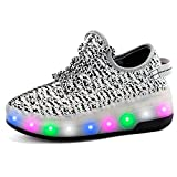 T&J Fashion USB Aufladung Skateboard Schuhe mit Rollen Erwachsene Kinder Jungen Licht Sneaker