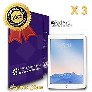 OnlineBestDigital - Films de protection d'écran pour Apple iPad Air, Crystal Clear / Transparent - OBD Emballage au Détail (Pack of 3)
