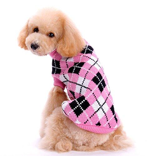Tuopuda® Hundepullover Hundepulli Hundekleidung Winter Jacke Warm Strick Sweater (L, rosa) (Pfirsich-strick-pullover)