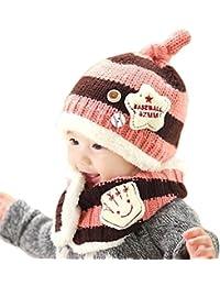 Invierno del bebé Niños Chicas Chicos Caliente lana Capucha Bufanda Caps  Sombreros 37781472479