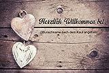 crealuxe Fussmatte Herzlich Willkommen bei mit Wunschname (nach dem Kauf angeben) 31 - Fussmatte bedruckt Türmatte Innenmatte Schmutzmatte lustige Motivfussmatte