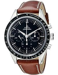 Omega de hombre 31132403001001pantalla analógica mecánica mano viento reloj, color marrón