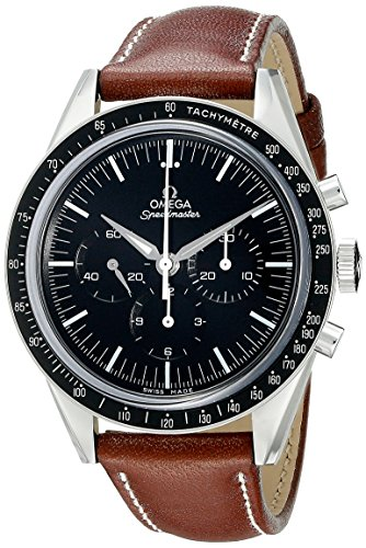 Omega Men's 31132403001001 Analog Display Mechanical Hand Wind Brown Watch