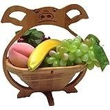 GMMH Pliable Panier à Fruits en Bambou Bol décoratif Pig