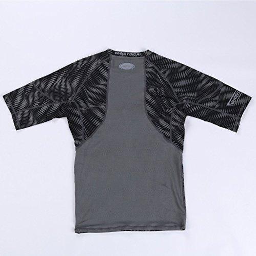 Jimmy Design - Maglietta aderente a compressione, per uomo, con stampa Nero - Pro - Schwarz 2