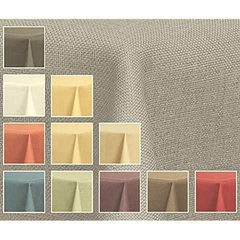 Tela mantel–óptica de lino–impermeable, 130x 130cm cuadrado color plateado