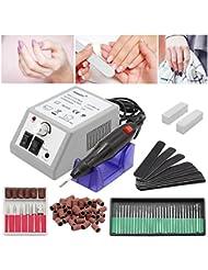 HENGDA® Ponceuse à ongles professionnelle pour manucure et pédicure, 20000tr/min vitesse réglable en continu, d'une puissance de 10W et certifié CE