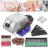HENDA Torno manicura Torno para uñas Fresa manicura Minimotor con estuche para Podologia 20000 RPM ideal para salón de belleza
