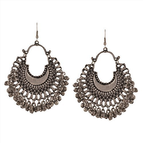 Tiaraz Fashion Stylish Oxidised Afghani Tribal Fancy Party Wear Earrings for Girls...