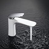 Homelody Edel weiss Wasserhahn bad Armatur Waschbecken Badarmatur Waschtischarmatur Einhebelmischer