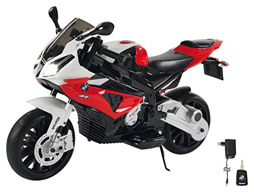 Jamara- Ride on Motocicleta BMW S1000RR 12V, Color Rojo (460280)