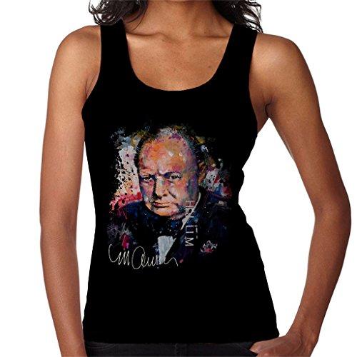 Sidney Maurer Winston Churchill Official Women's Vest Black