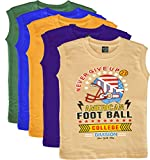 #10: KGB Sleeveless t shirts for boys - pack of 5