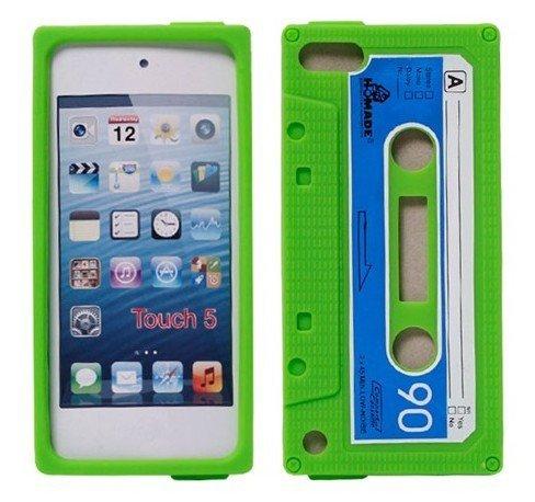 Classic Cassette Tape Silikon Hülle für Apple iPod Touch 5 5. Generation + Geschenk 1 Stück Insekt Mückenschutz Wrist Bands Armband ()