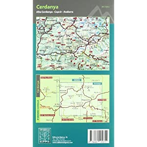 Cerdanya, mapa excursionista. Escala 1:25.000. Español, Català, Français. Alpina Editorial. (Mapa Y Guia Excursionista)