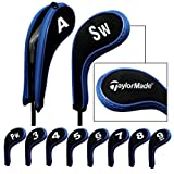 Taylormade Number Print Golf Iron Covers with Zipper Long Neck 10pcs/set Black/blue Mt/TL02