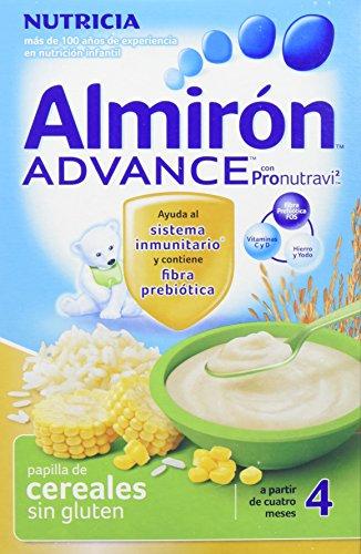 Almirón Advance Cereales sin gluten - 500 gr - Paquete de 4 x 500 gr - Total: 2000 gr