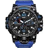 WAZA - Orologio militare da uomo, sportivo, impermeabile, con cronometro, orologio digitale