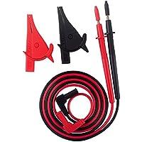 justech 2pcs Digital Multímetro Cable de prueba electrónica profesional de puntas de prueba con pinzas de cocodrilo para la escuela laboratorio fábrica y otros campos sociales