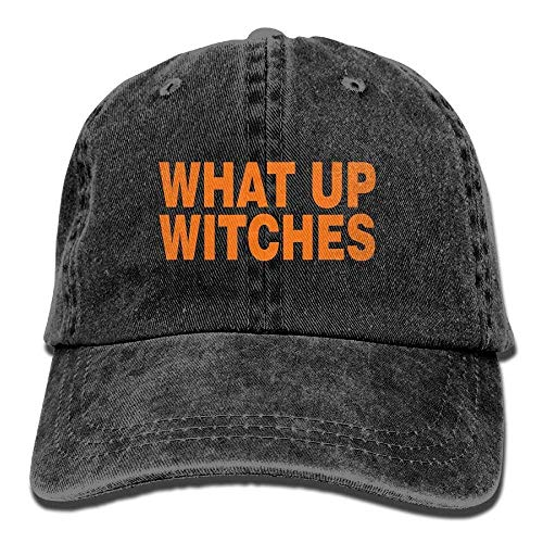 Aeykis Best Men's What Up Witches Halloween Washed Cotton Baseball Multicolor Adjustable Cap ABCDE11796