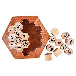Isuper Puzzle di Puzzle Digitale Puzzle di Giocattoli Classici Rompicapo Puzzle di Legno Digitale per Bambini e Adulti