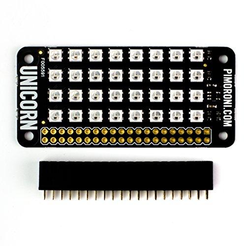 512lGirpyqL - Unicorn pHAT. Compatible con: Raspberry Pi 3, 2, B+, A+, and Zero.