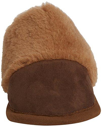 Woolsies Camelini Natural Wool Mule Slippers Damen Hausschuhe Braun (Braun)