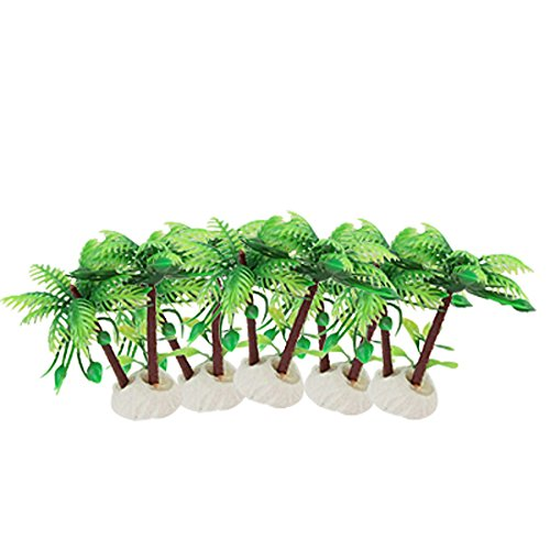 Newsbenessere.com 512lHDE%2BpaL Alberi acquario in plastica di noce di cocco - SODIAL(R) Alberi Acquario Green Leaves Brown di plastica tronco di noce di cocco