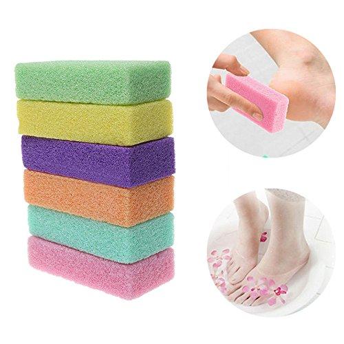 attachmenttou Pierre ponce soins des pieds gommage peau dure peau de callus nettoyant couleur aléatoire