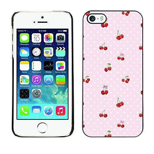 Plastic Shell Protective Case Cover || Apple iPhone 5 / 5S || Dot Berries Pink Pattern @XPTECH