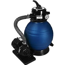 Deuba Pompe Filtre à Sable et particule 10200 l/h métal avec Pompe Nettoyage 4 Fonctions Piscine bassins Aquatiques indicateur de Pression