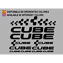 PEGATINAS CUBE F177 VINILO ADESIVI DECAL AUFKLEBER КЛЕЙ MTB STICKERS BIKE (NEGRO)