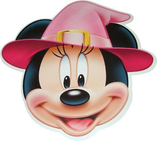 Halloween Disneys Minni Maus (Minnie Mouse) Hexe Kostüm Masken aus steifen Karte gemachtn - Offizielles Produkt von Disney (Minnie Erwachsene Mouse-halloween-kostüme)