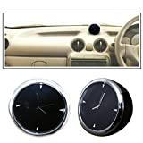 #8: Vheelocityin Small Size Black Dashboard Clock Watch Car Watch
