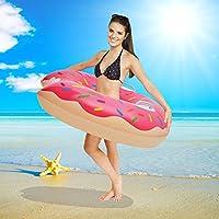 Piscina Flotadores Anillos de natación - Beby 2017 Summer Nuevo Diseño Handhold Donut Anillo de piscina inflable Red para adultos Niños pequeños