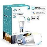 TP-Link Ampoule LED  connectée WiFi, culot E27, lumière blanche d'ambiance, 10W, fonctionne avec Amazon Alexa (Echo et Echo Dot), Google Assistant et IFTTT pour la commande vocale, toutes les teintes de blanc, pas besoin de hub [Classe énergétique A+] - LB120
