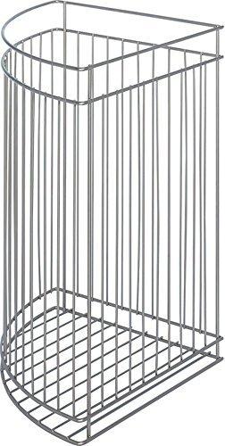 Metall Gitter-Korb Wäschekorb silber Regalkorb mit Einhänge-Funktion für Schrank Drehtüren oder freistehend | Wäsche-Sammler 330 x 330 x 500 mm | Stahl RAL 9006 weißaluminium pulverbeschichtet | GedoTec® powered by HÄFELE (Hafele Korb)