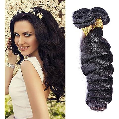 Meydlee AccessoriPosticci colore naturale capelli vergini di 6A Mix lunghezza 300 grammi di 3 fasci onda sciolto estensioni dei capelli umani , 24 26 28