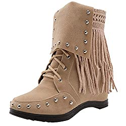 Mujer botas Remache de...