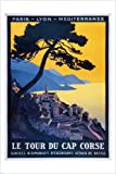 Poster, Motiv: Malerische Küste Korsikas, Stil: