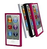 Muvit MURUB0057 - Pack de 3 fundas de silicona + protector de pantalla para Apple iPod Nano 7G...