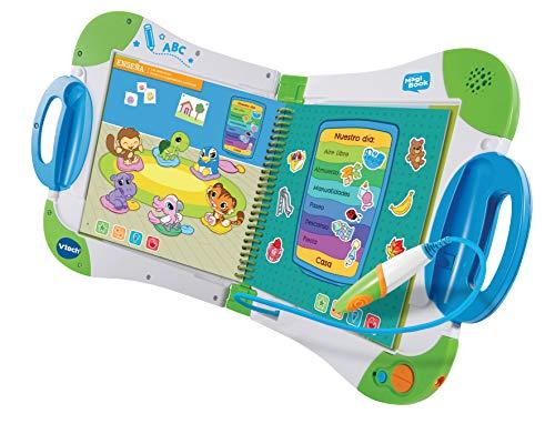 VTech-80-602122 Magibook  Enseña Quieres Aprender Hoy Vocabulario, Mates,  Ciencias  Horas de Entretenimiento, Libros interactivos, Color Verde