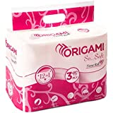Origami So Soft 3 Ply Toilet Tissue 12 Rolls - 160 Pulls Per Roll - Total 1920 Pulls